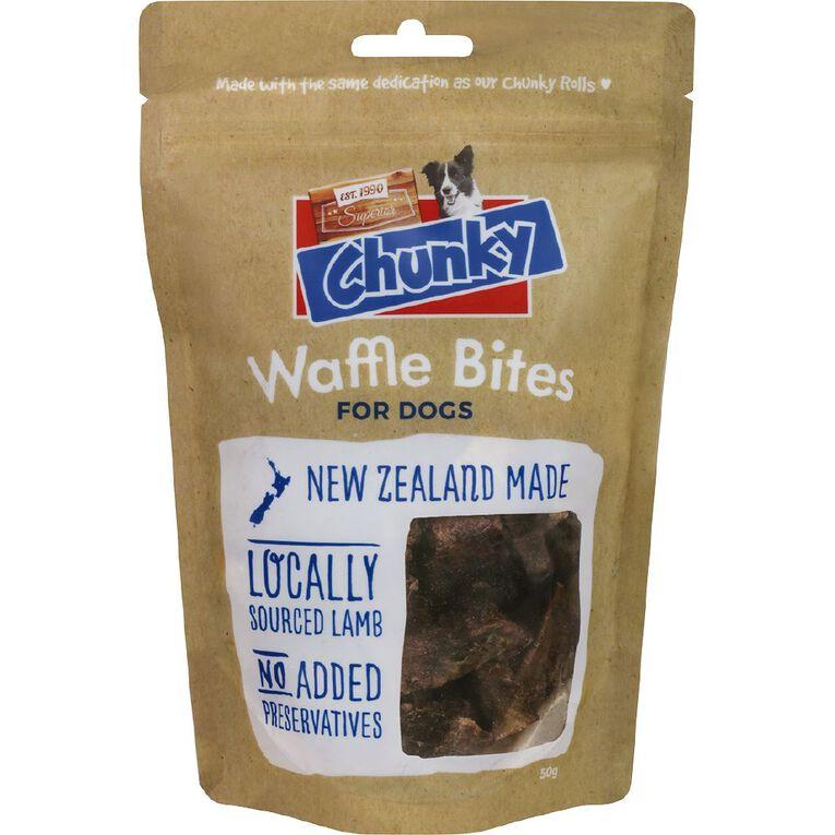 Superior Chunky Dog Treat Waffle Bite 50g, , hi-res
