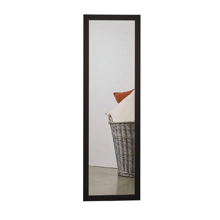 Living & Co Everyday D-Ring Mirror 36cm X 120cm Black, , hi-res