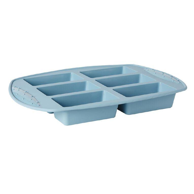Living & Co Silicone Mini Loaf Pan Aqua 6 Cup, , hi-res