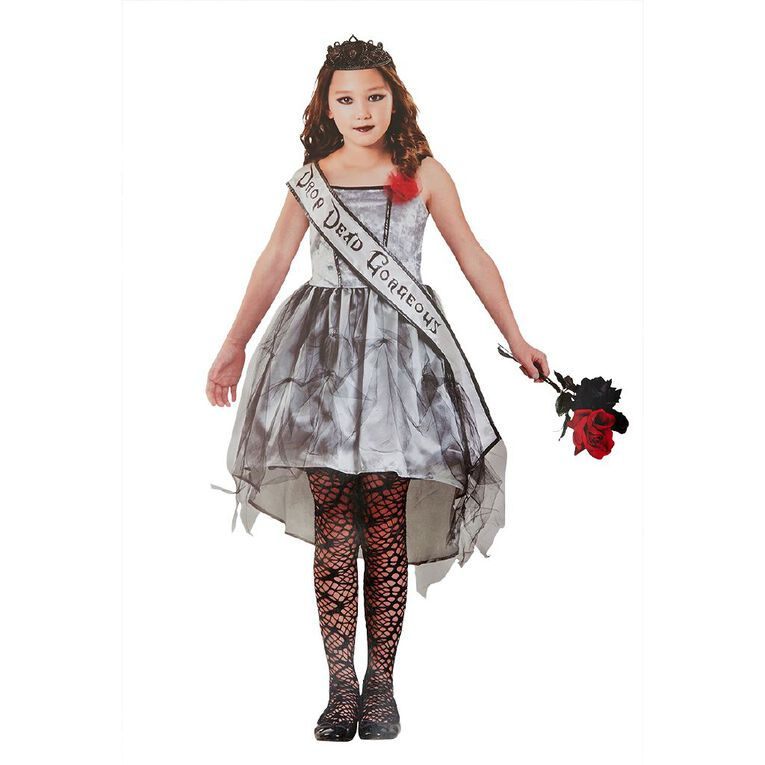 Amscan Gothic Beauty Queen Costume 8-10 Years, , hi-res