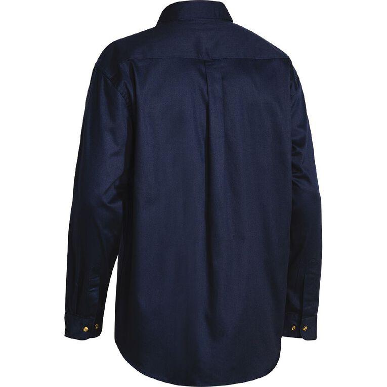 Bisley Workwear Long Sleeve Shirt, Navy, hi-res
