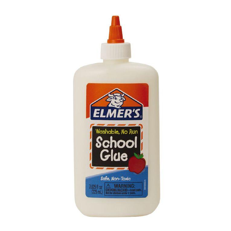 Elmer's PVA School Glue White Washable 225Ml White, , hi-res