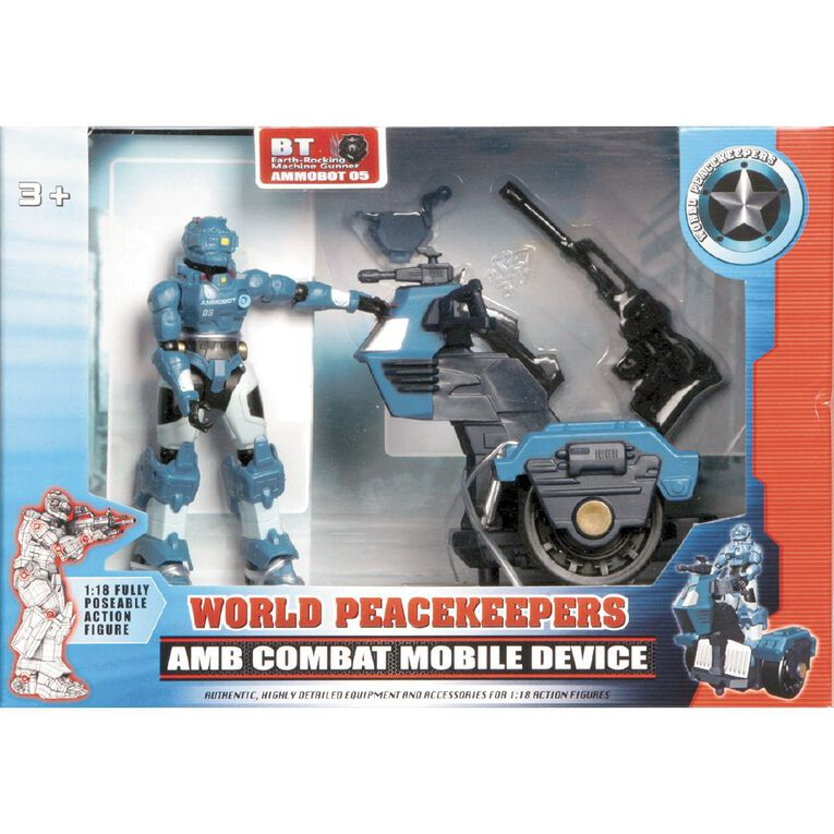 World Peacekeepers Ammobot Figure with Combat Mobile Device 4 inch, , hi-res