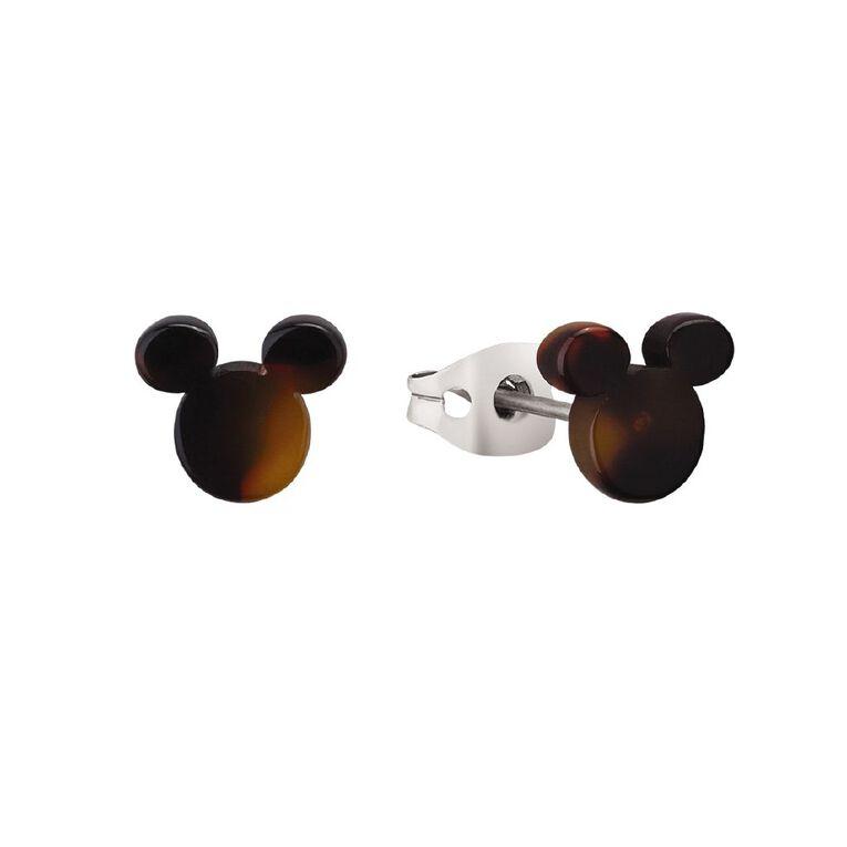 Disney Mickey Mouse Tortoiseshell Stud Earrings, , hi-res