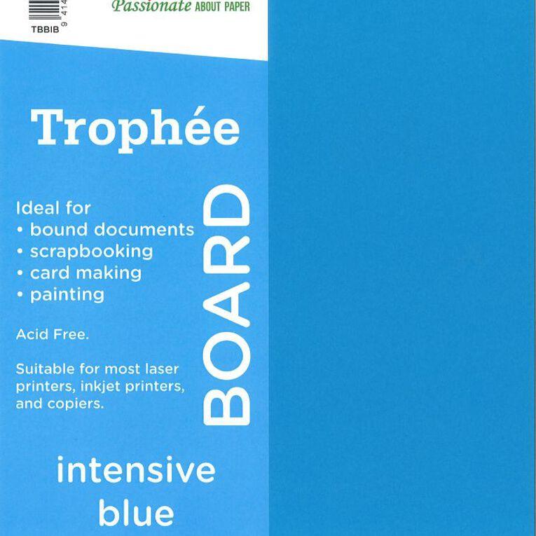 Trophee Board 210gsm 100 Pack Intensive Blue A4, , hi-res