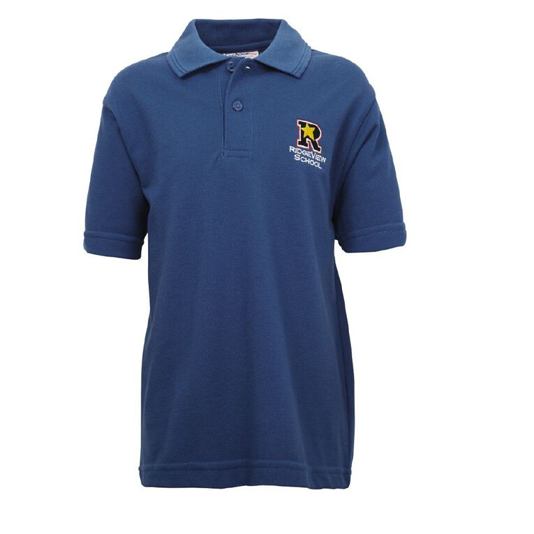 Schooltex Ridgeview Short Sleeve Polo with Embroidery, Royal, hi-res