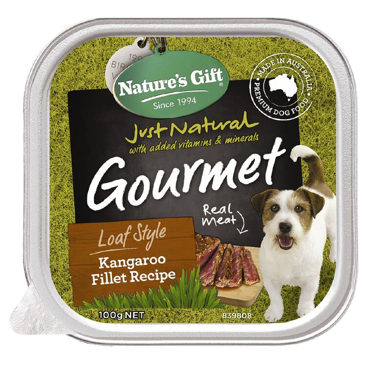 Nature's Gift Gourmet Loaf Kangaroo 100g, , hi-res