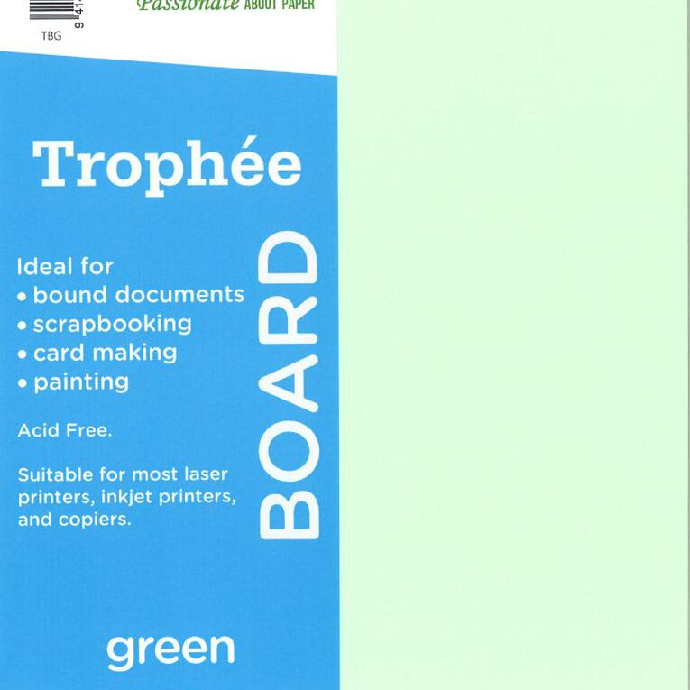 Trophee Board 210gsm 12 Pack Green A4, , hi-res image number null