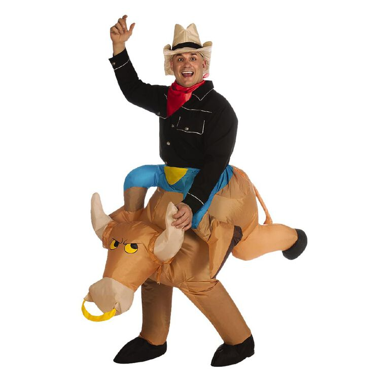 Rubies Generic Bull Rider Inflatable Costume One Size, , hi-res