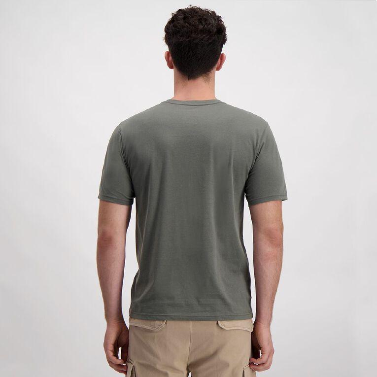 H&H Crew Neck Short Sleeve Printed Tee, Khaki, hi-res