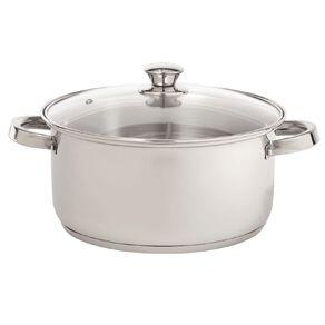Living & Co Stainless Gourmet Casserole Pot Steel 24cm