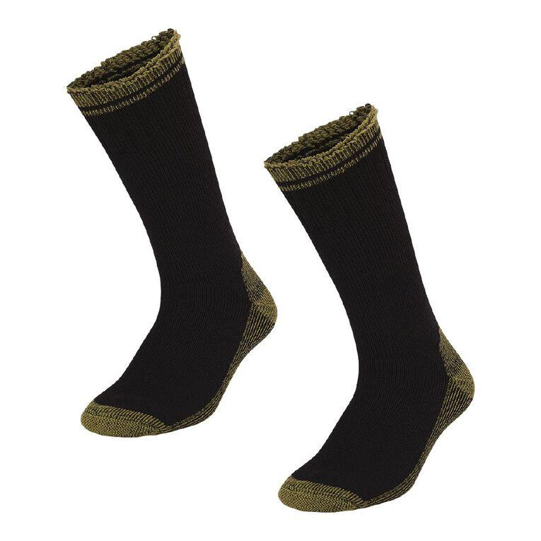 Rivet Men's Work Socks 2 Pack, Black, hi-res