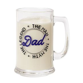 Living & Co Dad The Legend Stein Glass Clear