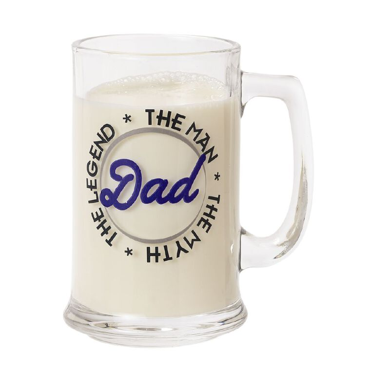 Living & Co Dad The Legend Stein Glass Clear, , hi-res