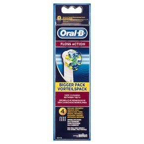 Oral-B Vitality Floss Action Power Brush Refill 4pk