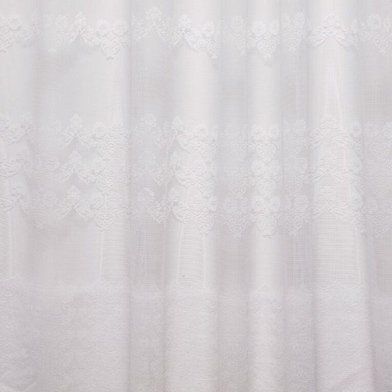 Living & Co Daisetta Net White 150cm x 120cm Drop, White, hi-res image number null