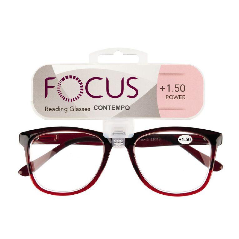 Focus Reading Glasses Contempo 1.50, , hi-res