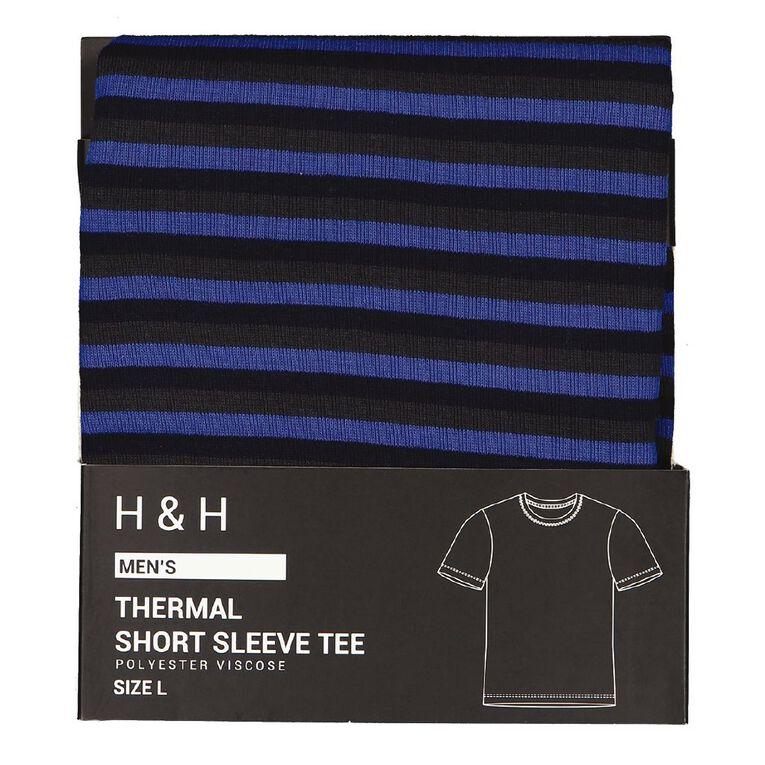H&H Men's Polyester Viscose Thermal Top, Blue, hi-res
