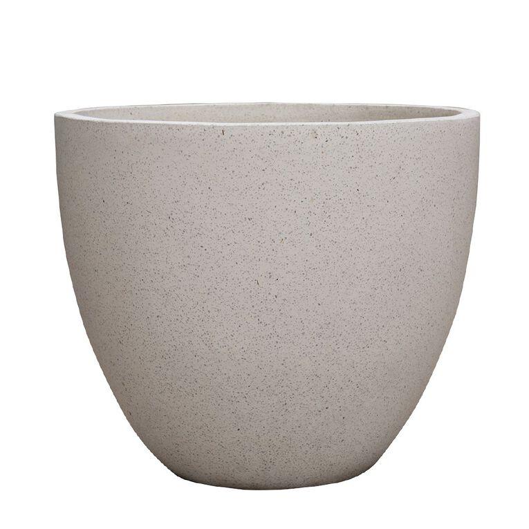 Kiwi Garden Lightweight Cement Egg Planter White 25cm, , hi-res