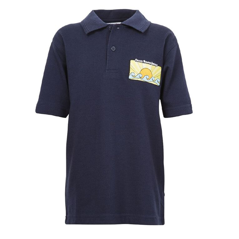 Schooltex Oroua Downs School Polo with Embroidery, Navy, hi-res