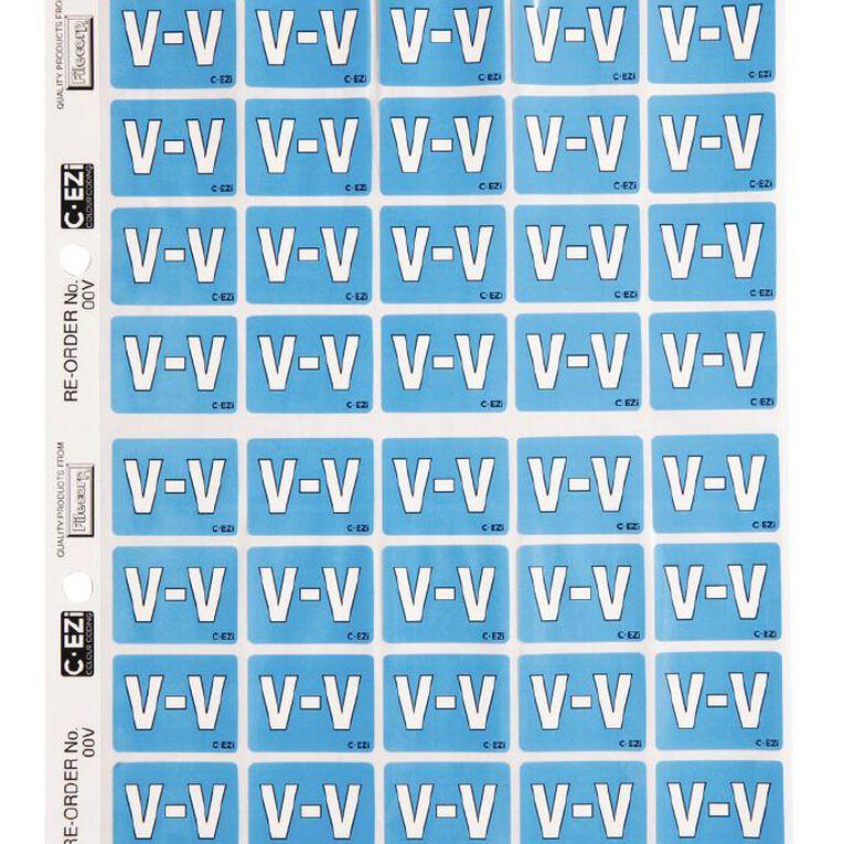 Filecorp Coloured Labels V Blue, , hi-res