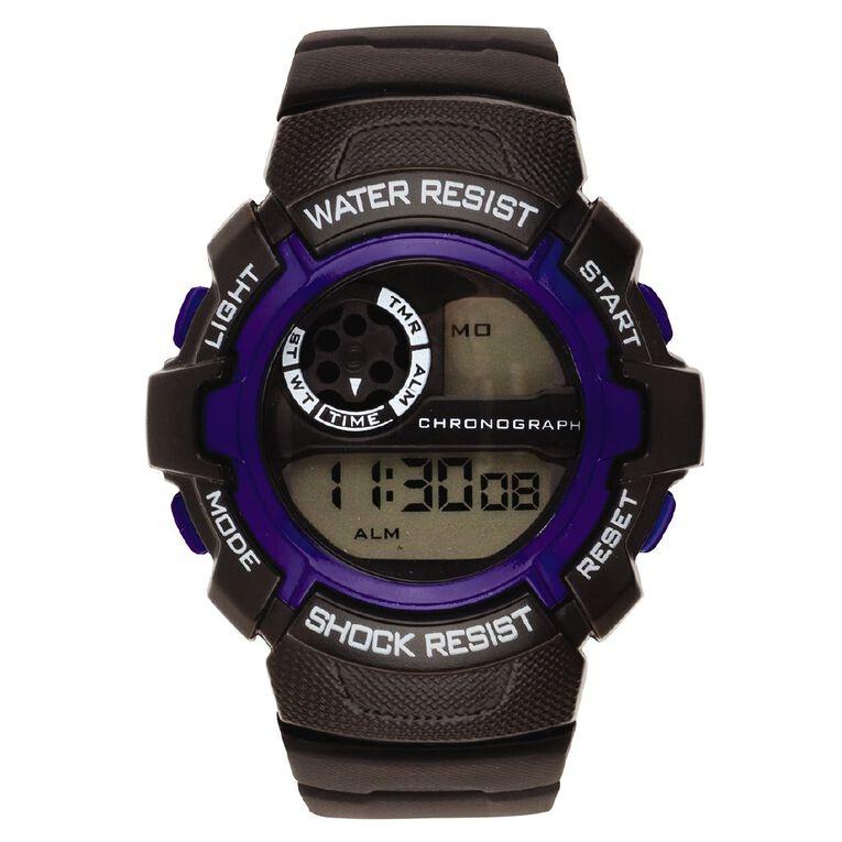 Active Intent Men's Sports Digital Black Blue, , hi-res