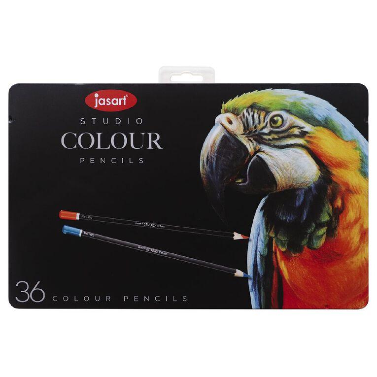 Jasart Coloured Pencils in Tin 36 Pack, , hi-res