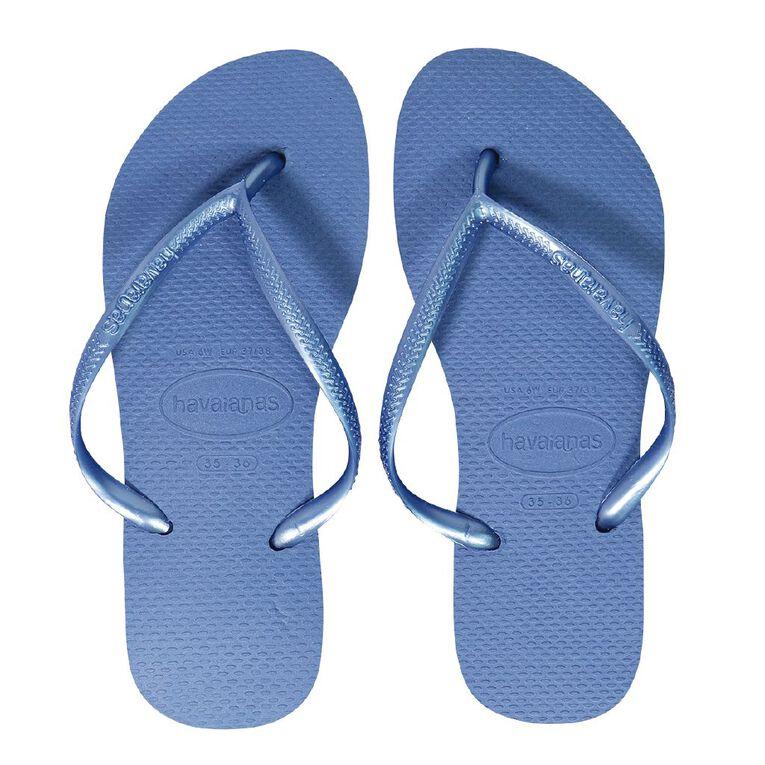 Havaianas Slim Jandals, Blue, hi-res