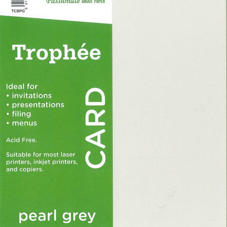 Trophee Card 160gsm 100 Pack Pearl Grey A4, , hi-res