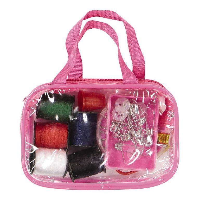 Uniti Sewing Kit Carry Bag Pink, , hi-res