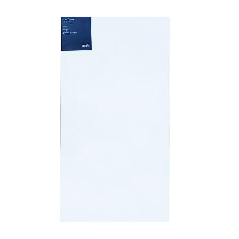 Uniti Blank Canvas 280gsm (12in x 24in) 30cm x 60cm, , hi-res