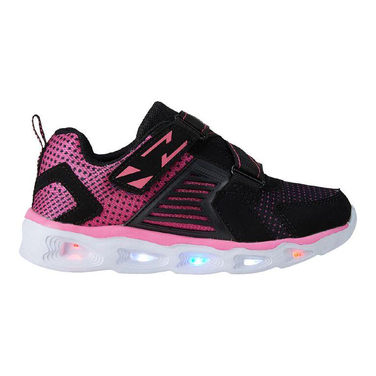 Active Intent Girls' Zig Zag Flash Shoes, Black, hi-res image number null