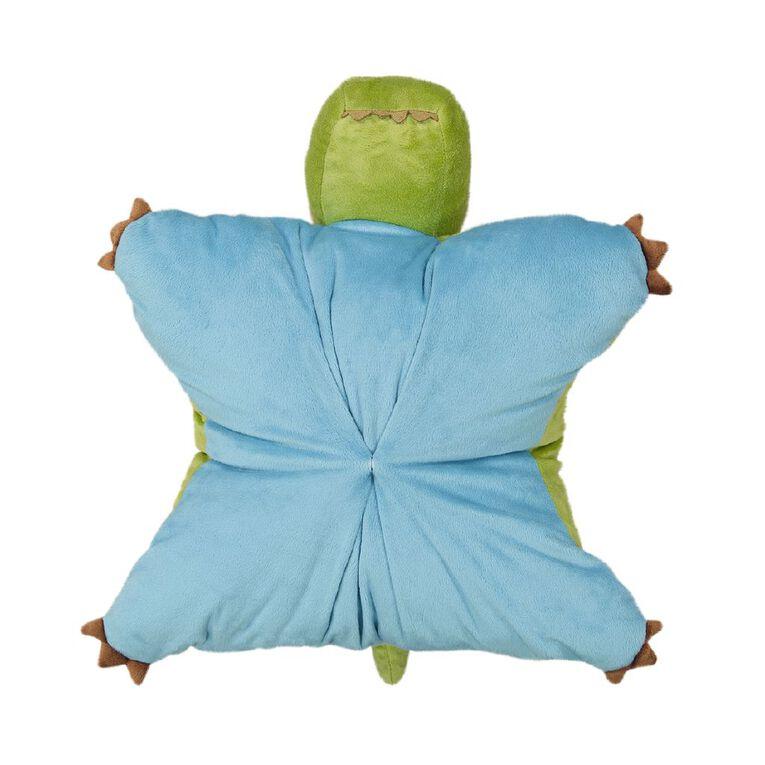 Living & Co Kids Cushion Dino Green 46cm x 43cm, Green, hi-res