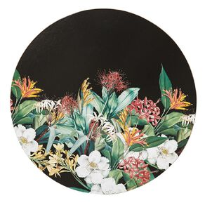 Living & Co Printed Kiwi Floral Round Placemat 33cm