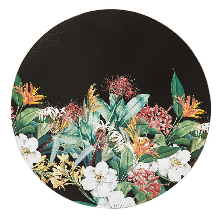 Living & Co Printed Kiwi Floral Round Placemat 33cm, , hi-res image number null