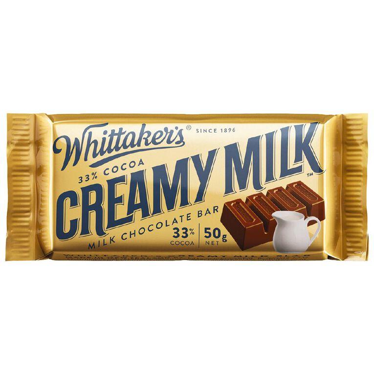 Whittaker's Creamy Milk Slab 50g, , hi-res