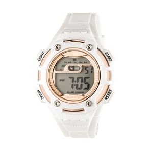 Active Intent Women's Sports Digital Watch White Rose Gold