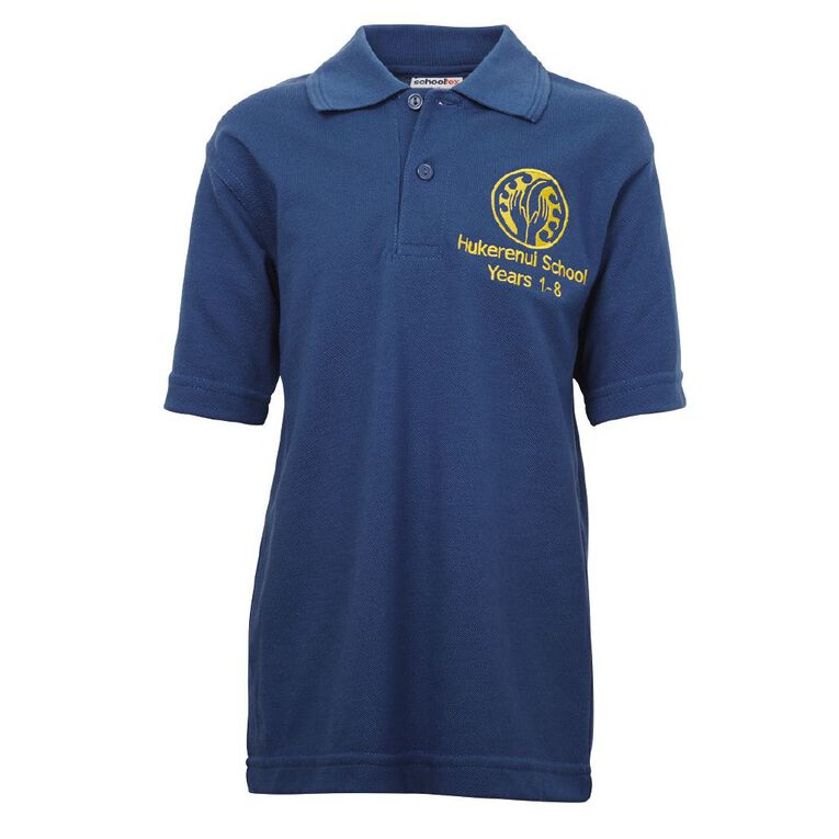 Schooltex Hukerenui Short Sleeve Polo with Embroidery, Royal, hi-res