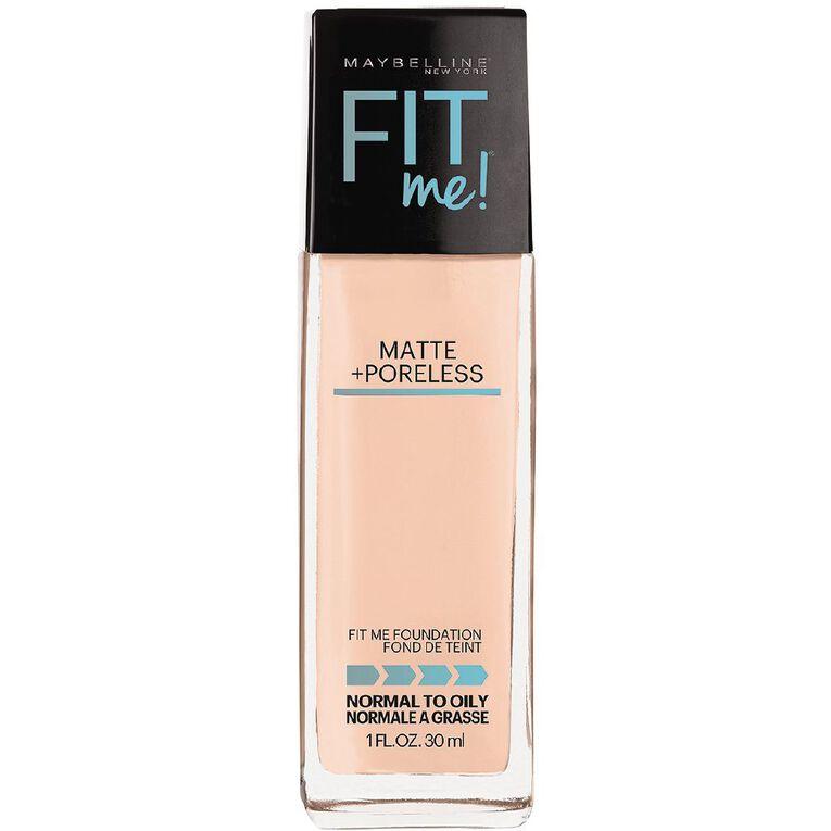Maybelline Fit Me Matte + Poreless Foundation 105 Fair Ivory, , hi-res