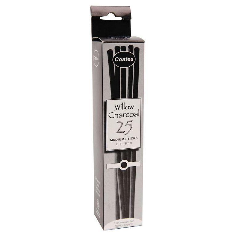 Coates Wilow Charcoal Medium 25 Pack, , hi-res