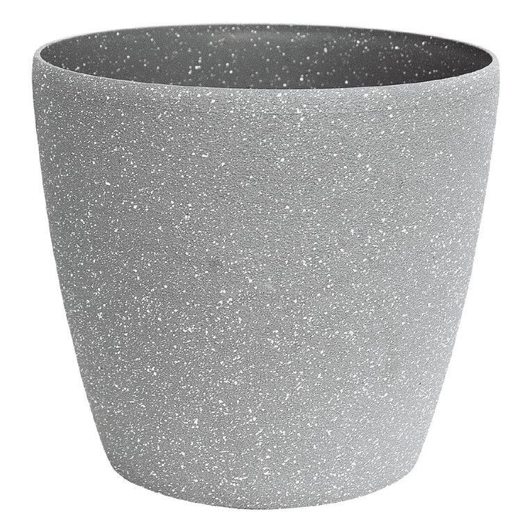 Kiwi Garden Sandstone Plastic Pot Grey 22cm, , hi-res