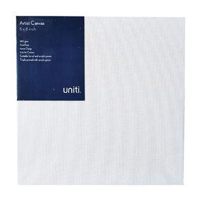 Uniti Blank Canvas 280gsm (8in x 8in) 20cm x 20cm