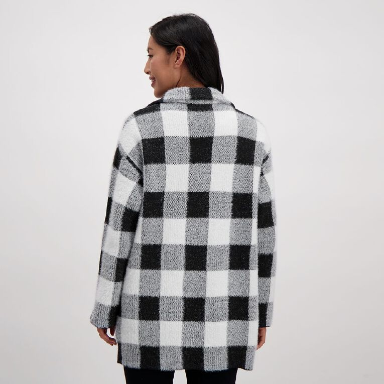 H&H Women's Knit Jacket, Black/White, hi-res