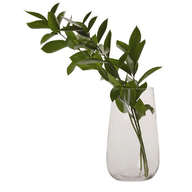 Living & Co Clear Bulb Vase Clear 22cm, , hi-res