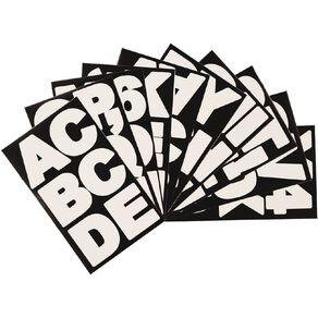 Uniti Alphabet Stickers White Large