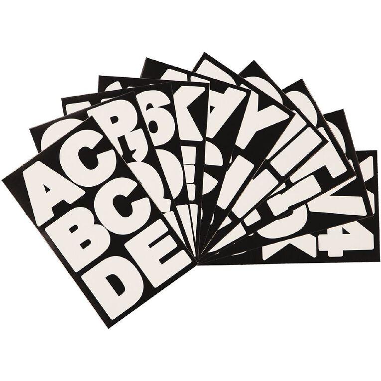 Uniti Alphabet Stickers White Large, , hi-res