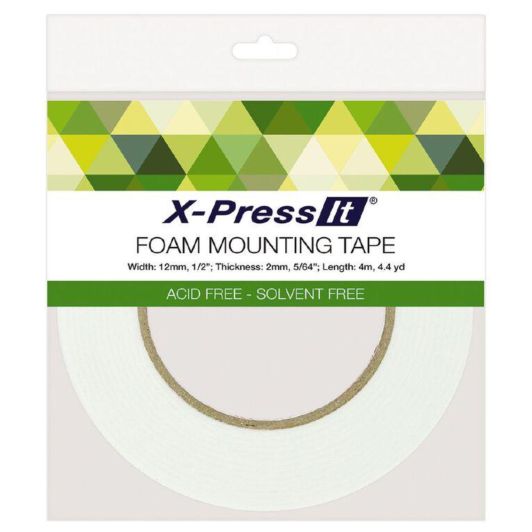 X-Press It Double Sided Foam Tape 2mm thick 12mm x 4m, , hi-res