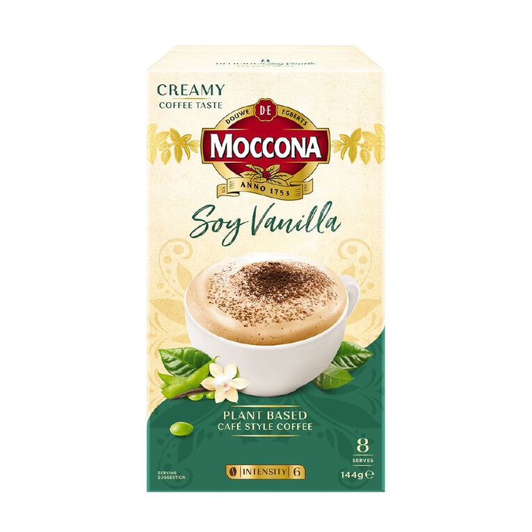 Moccona Soy Vanilla Cappuccino 8 Pack, , hi-res