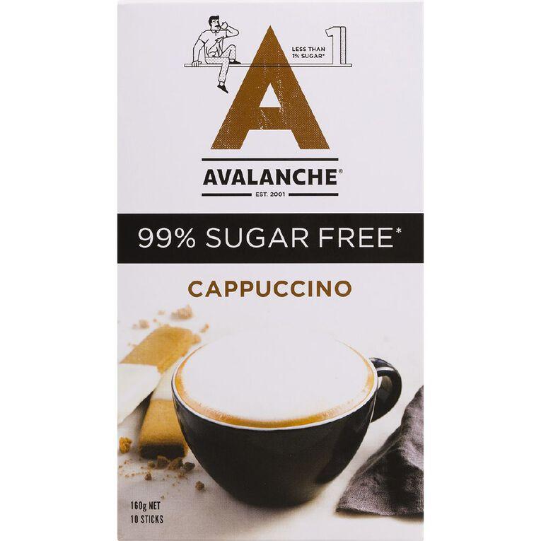 Avalanche 99% Sugar Free Cappuccino 10pk, , hi-res