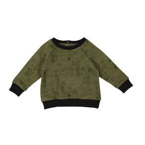 Young Original Baby Raglan Printed Sweatshirt